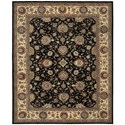 "Nourison Nourison 2000 7'9"" x 9'9"" Midnight Rectangle Rug - Item Number: 2204 MID 79X99"
