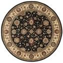 Nourison Nourison 2000 8' x 8' Midnight Round Rug - Item Number: 2204 MID 8X8