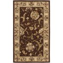 "Nourison Nourison 2000 2'6"" x 4'3"" Brown Rectangle Rug - Item Number: 2206 BRN 26X43"