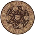 Nourison Nourison 2000 4' x 4' Brown Round Rug - Item Number: 2206 BRN 4X4