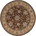 Nourison Nourison 2000 6' x 6' Brown Round Rug - Item Number: 2206 BRN 6X6