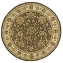 Nourison Nourison 2000 4' x 4' Slate Round Rug - Item Number: 2206 SLT 4X4