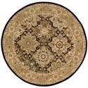 Nourison Nourison 2000 4' x 4' Black Round Rug - Item Number: 2211 BLK 4X4