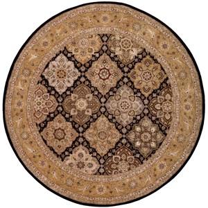 Nourison Nourison 2000 8' x 8' Black Round Rug