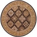 Nourison Nourison 2000 8' x 8' Black Round Rug - Item Number: 2211 BLK 8X8