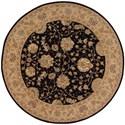 Nourison Nourison 2000 6' x 6' Black Round Rug - Item Number: 2214 BLK 6X6