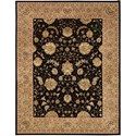 "Nourison Nourison 2000 8'6"" x 11'6"" Black Rectangle Rug - Item Number: 2214 BLK 86X116"
