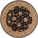 Nourison Nourison 2000 8' x 8' Black Round Rug - Item Number: 2214 BLK 8X8