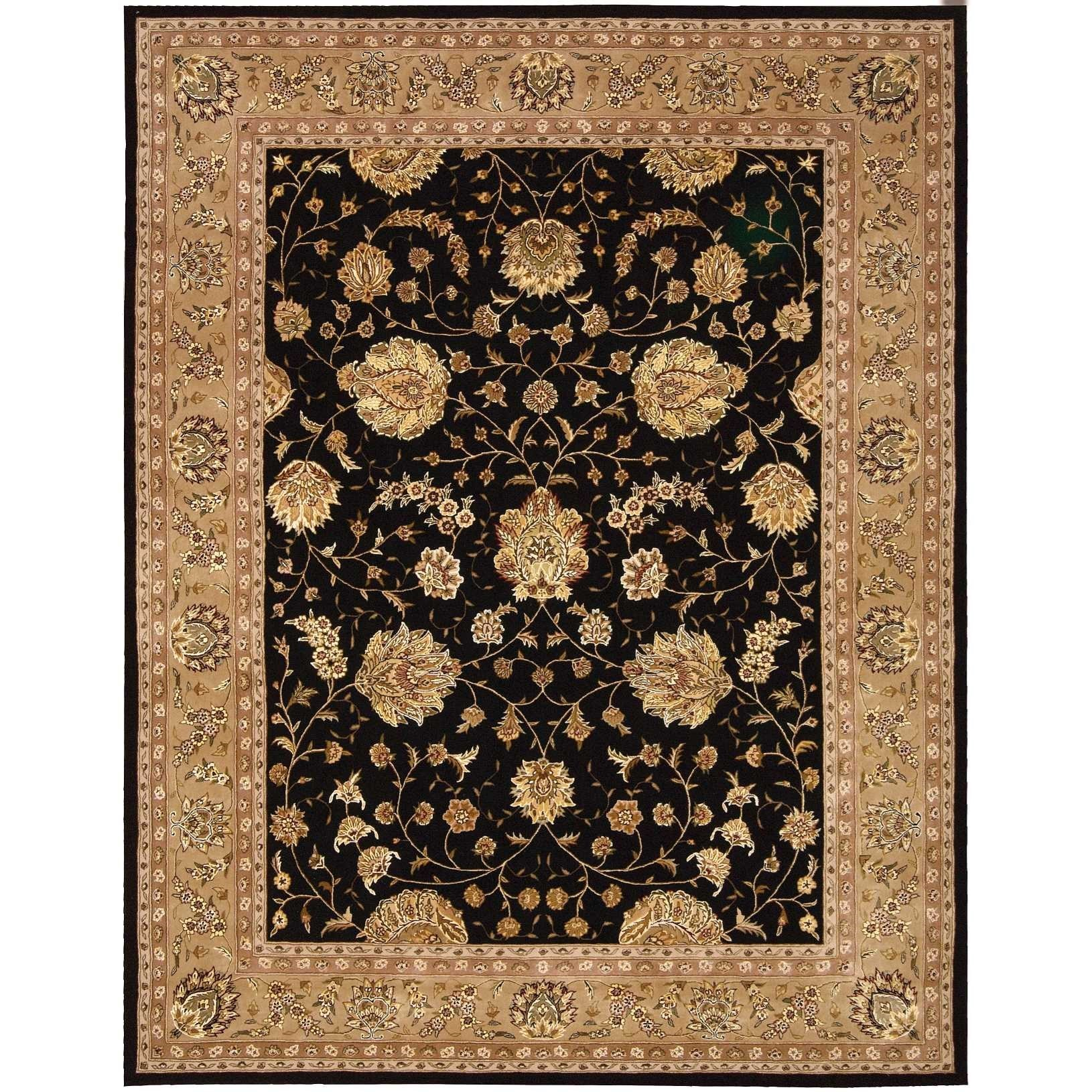 "9'9"" x 13'9"" Black Rectangle Rug"