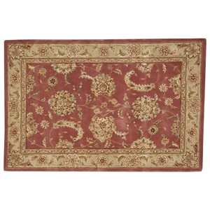 "Nourison Nourison 2000 3'9"" x 5'9"" Rose Rectangle Rug"