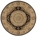 Nourison Nourison 2000 4' x 4' Black Round Rug - Item Number: 2233 BLK 4X4