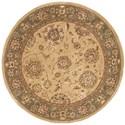 Nourison Nourison 2000 4' x 4' Beige Round Rug - Item Number: 2258 BGE 4X4