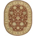 "Nourison Nourison 2000 7'6"" x 9'6"" Rust Oval Rug - Item Number: 2258 RUS 76X96"