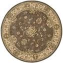 Nourison Nourison 2000 4' x 4' Grey Round Rug - Item Number: 2259 GRY 4X4