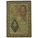 "Nourison Nourison 2000 3'9"" x 5'9"" Multicolor Rectangle Rug - Item Number: 2292 MTC 39X59"