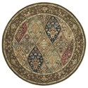 Nourison Nourison 2000 6' x 6' Multicolor Round Rug - Item Number: 2292 MTC 6X6