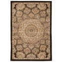 "Nourison Nourison 2000 3'9"" x 5'9"" Brown Rectangle Rug - Item Number: 2318 BRN 39X59"