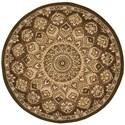 Nourison Nourison 2000 4' x 4' Brown Round Rug - Item Number: 2318 BRN 4X4
