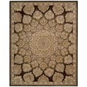 "Nourison Nourison 2000 8'6"" x 11'6"" Brown Rectangle Rug - Item Number: 2318 BRN 86X116"