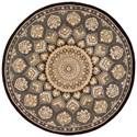 Nourison Nourison 2000 4' x 4' Slate Round Rug - Item Number: 2318 SLT 4X4