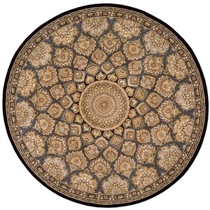 Nourison Nourison 2000 8' x 8' Slate Round Rug