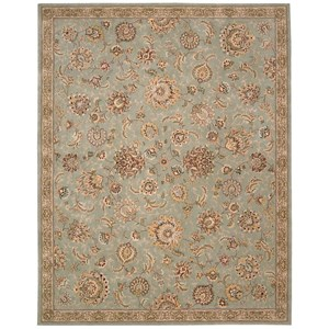 "Nourison Nourison 2000 7'9"" x 9'9"" Aqua Rectangle Rug"