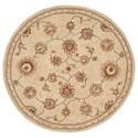 Nourison Nourison 2000 4' x 4' Beige Round Rug - Item Number: 2360 BGE 4X4