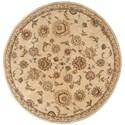 Nourison Nourison 2000 6' x 6' Beige Round Rug - Item Number: 2360 BGE 6X6