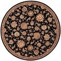 Nourison Nourison 2000 8' x 8' Black Round Rug - Item Number: 2360 BLK 8X8