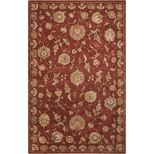 "Nourison Nourison 2000 5'6"" x 8'6"" Rust Rectangle Rug"