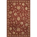 "Nourison Nourison 2000 5'6"" x 8'6"" Rust Rectangle Rug - Item Number: 2421 RUS 56X86"
