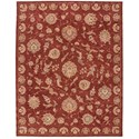 "Nourison Nourison 2000 8'6"" x 11'6"" Rust Rectangle Rug - Item Number: 2421 RUS 86X116"