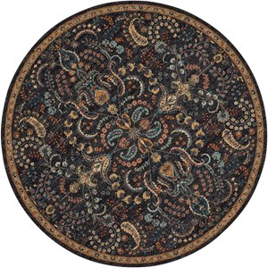 "Nourison Nourison 2020 7'5"" X 7'5"" Night Fall Rug"