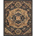 "Nourison Nourison 2020 9'2"" X 12'5"" Midnight Rug - Item Number: NR206 MIDNT 92X125"