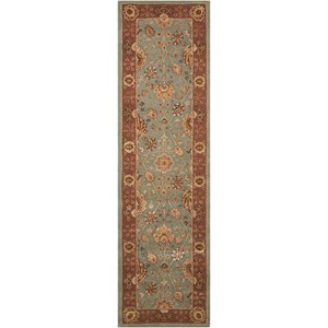 "Nourison Nourison 3000 2'3"" x 8' Light Blue Runner Rug"