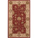 """Nourison Nourison 3000 3'9"""" x 5'9"""" Red Rectangle Rug - Item Number: 3102 RED 39X59"""