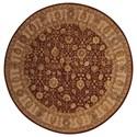 Nourison Nourison 3000 6' x 6' Rust Round Rug - Item Number: 3102 RUS 6X6