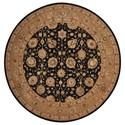 Nourison Nourison 3000 8' x 8' Black Round Rug - Item Number: 3105 BLK 8X8