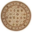 Nourison Nourison 3000 8' x 8' Ivory Round Rug - Item Number: 3105 IV 8X8