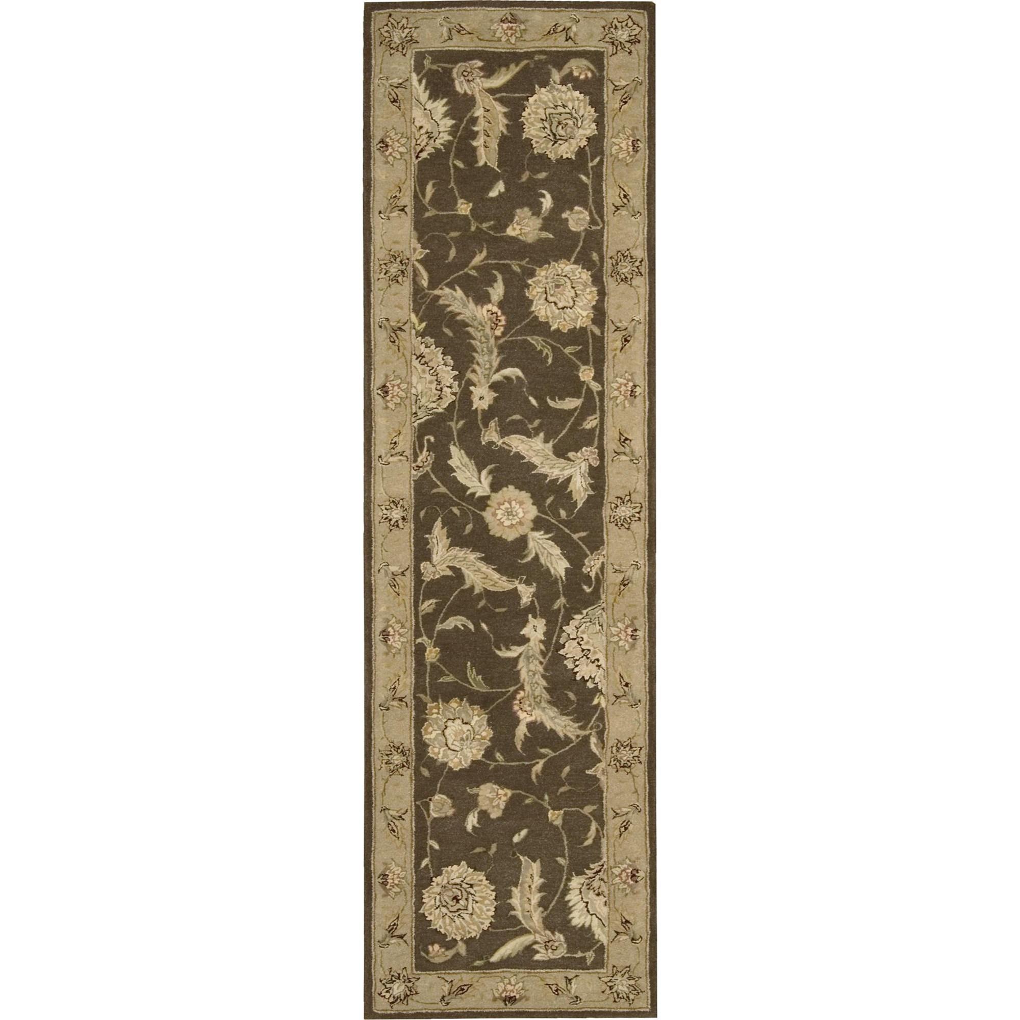 """Nourison Nourison 3000 2'3"""" x 8' Brown Area Rug - Item Number: 19317"""