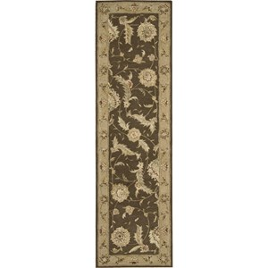 "Nourison Nourison 3000 2'3"" x 8' Brown Area Rug"