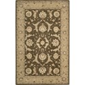 "Nourison Nourison 3000 5'6"" x 8'6"" Brown Area Rug - Item Number: 19776"