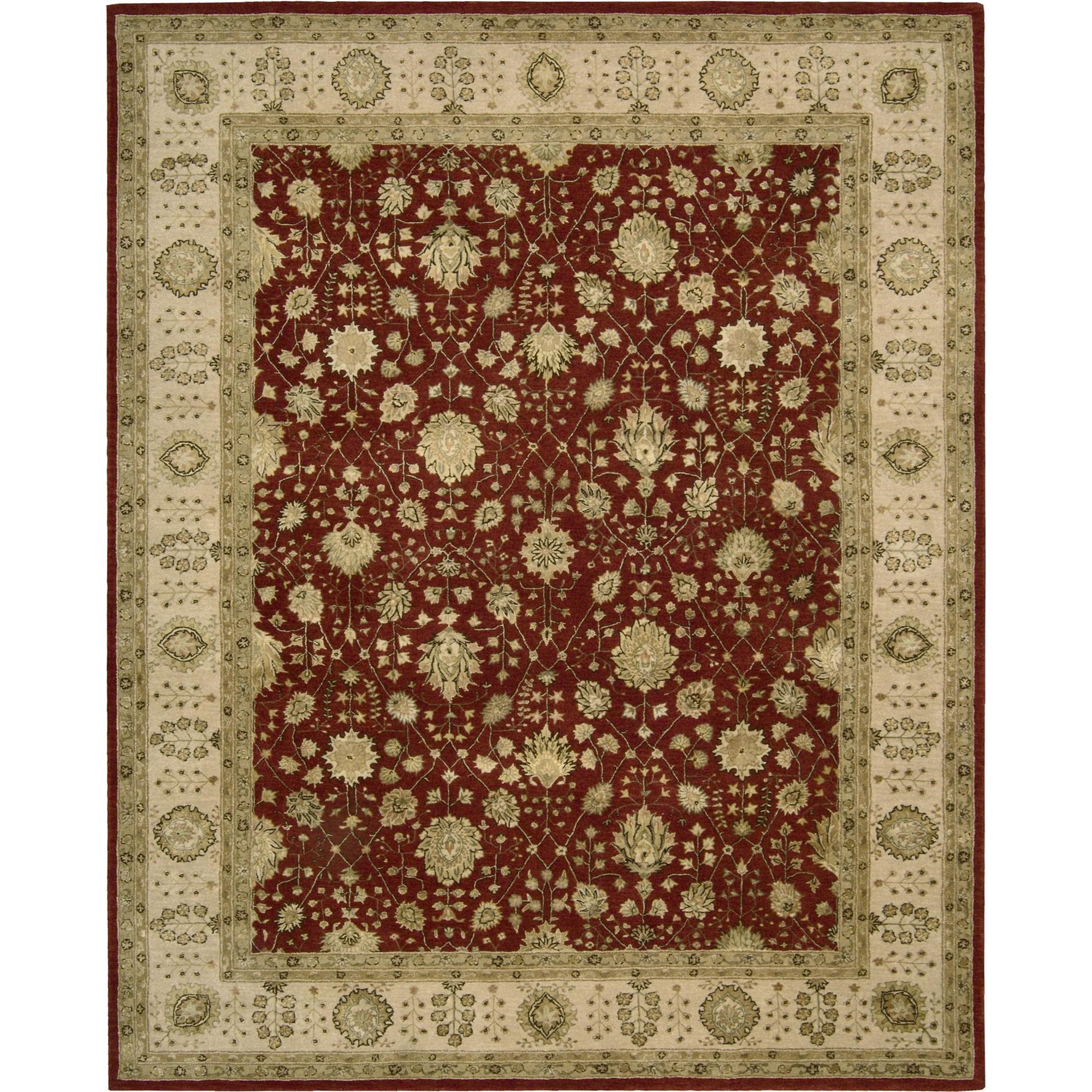 "Nourison Nourison 3000 9'9"" x 13'9"" Red Area Rug - Item Number: 20586"