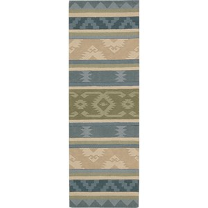 "Nourison India House 2'3"" x 7'6"" Blue Green Area Rug"