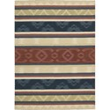"Nourison India House 2'6"" x 4' Multicolor Area Rug - Item Number: 22003"