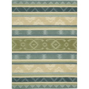 "Nourison India House 3'6"" x 5'6"" Blue Green Area Rug"