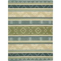 "Nourison India House 8' x 10'6"" Blue Green Area Rug - Item Number: 22014"