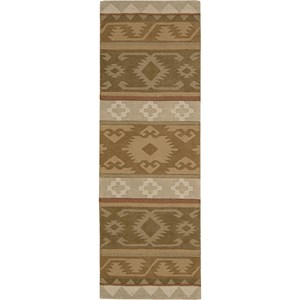 "Nourison India House 2'3"" x 7'6"" Camel Area Rug"