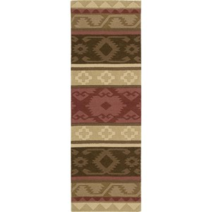 "Nourison India House 2'3"" x 7'6"" Espresso Area Rug"