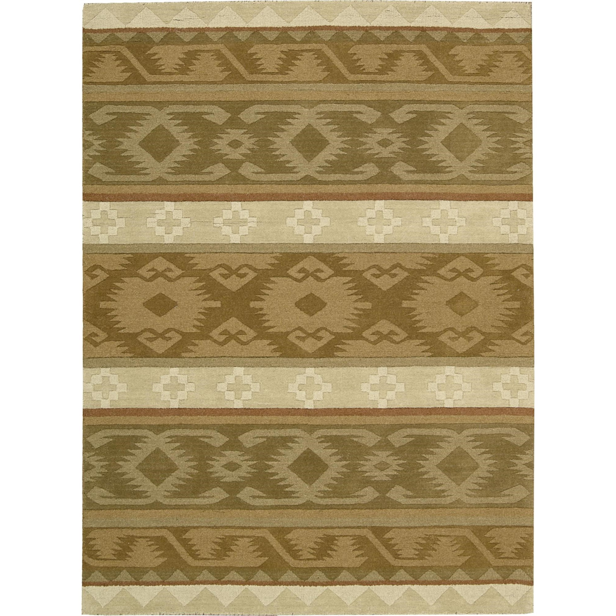 "Nourison India House 3'6"" x 5'6"" Camel Area Rug - Item Number: 22021"
